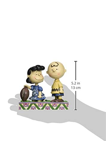 Peanuts by Jim Shore Football Lucy and Charlie Brown Stone Resin Figurine, 5