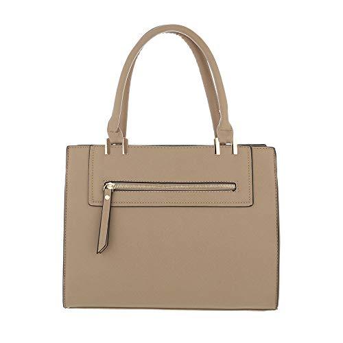 à Sac pour Beige Beige marron One femme Ital porter Size à l'épaule Design qZIH5w