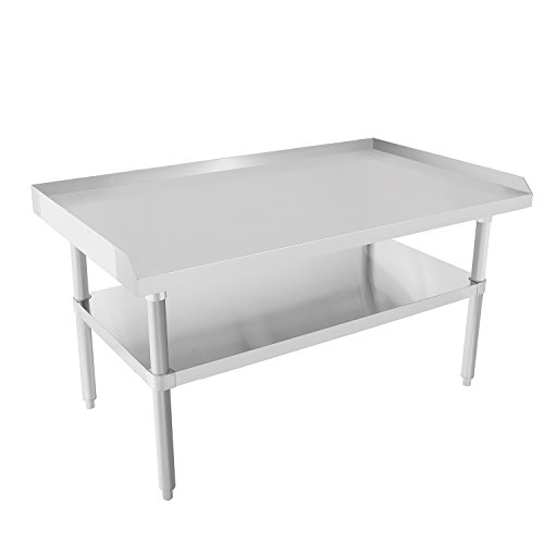 Steel Restaurant Equipment Stainless (Commercial Kitchen Prep & Worktable - KITMA Stainless Steel Equipment Stand with Undershelf for Restaurant - 48x28 Inches)