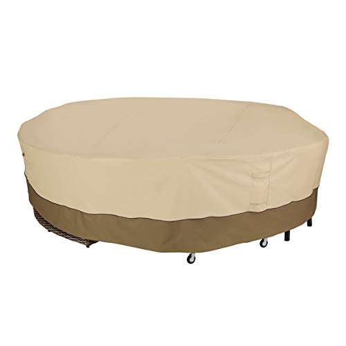 Classic Accessories Veranda 128″ Diameter Round Sectional Sofa/General Purpose Patio Furniture Cover