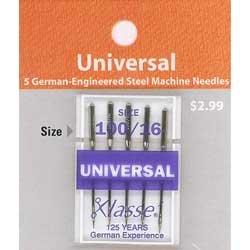 Klasse' Universal Needles Size 100/16