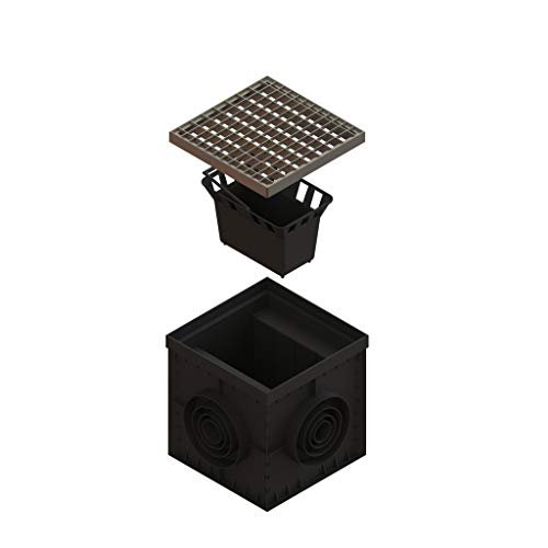 Standartpark 12 x 12 Catch Basin Galvanized Stamped Steel Grate - Partitions - and Debris Basket Package