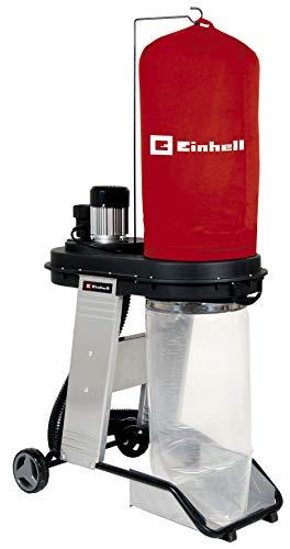 Einhell Aspirador TE-VE 550/1 A (550 W, enchufe Automático 2500 W, manguera de aspiración de 250 cm y Ø 100 mm, 2 adaptadores de aspiración 36 mm, Liberación Rápida para Bolsa de Recolección 65 L)