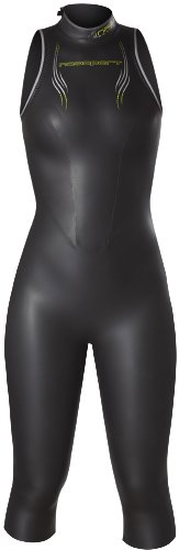 NeoSport Women's Jane 5/3mm Triathlon Wetsuit, Black/Yellow, 8 - Triathalon, Swimming & - Wetsuit Womens Triathlon