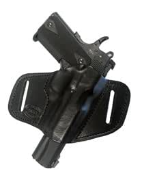 Gun Holster Springfield XDS 9mm - 45ACP Pro Carry 7 Right Hand Outside The Waistband Black Leather