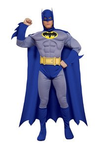 Rubie's Dc Heroes and Villains Collection Deluxe Muscle Chest Batman, Multicolored, Medium Costume for $<!--$30.53-->