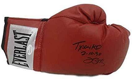 James 'Buster' Douglas Signed Autographed 'Tyson K.O. 2-10-90' Boxing Glove - JSA COA