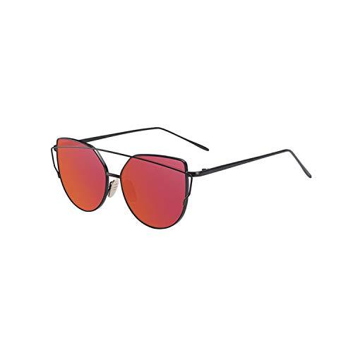 NEW Cat Eye Vintage Brand Designer Rose Gold Mirror Sunglasses For Women Metal Reflective Flat Lens Sun Glasses Female Oculos 1