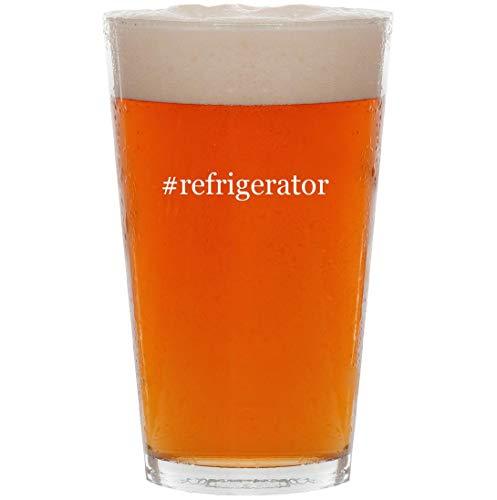 #refrigerator - 16oz Hashtag Pint Beer Glass
