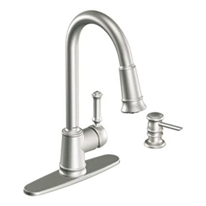 Beau Moen CA87012SRS Pullout Spray High Arc Kitchen Faucet With Reflex  Technology From The Lindley Collection