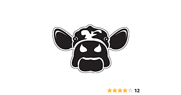 Laptops for Tumblers WickedGoodz Plays Well with Udders Cow Vinyl Sticker Decal Funny Farm Sticker Car Windows