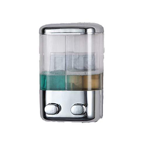 (Goodscene Liquid Soap Dispenser Chrome-Plated Double-Headed Silicone Pump Manual Soap Dispenser to Soap)
