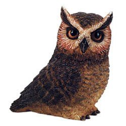 Owl Pot Belly - Harmony Ball Pot Belly Series GREAT HORNED OWL (PBZOW4)