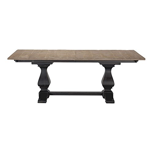 Ethan Allen Cameron Trestle Extension Rustic Dining Table, Dakota W/Mesquite Cameron Dining Table