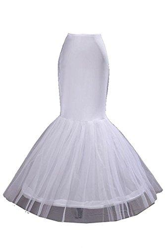 Tulle Petticoat Slip - DYS Women's Full Length Petticoat Slips Bridal Tulle Lace Crinoline Underskirt White7
