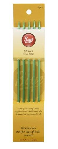 Boye Accessories (Boye 7-Inch Aluminum Double Point Knitting Needles, Size 3)