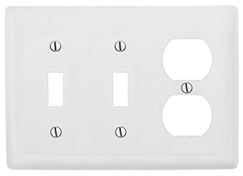 Bryant Electric NP28W 3-Gang 2-Toggle, 1-Duplex, Standard Si