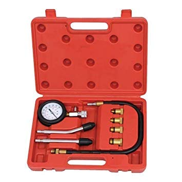 Uniqus Car Mechanical Stethoscopes Mechanical Noise Detector with Pressure Gauage and Nozzles