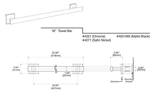 Gatco 4051 Elevate 18'' Towel Bar, Chrome by Gatco (Image #2)