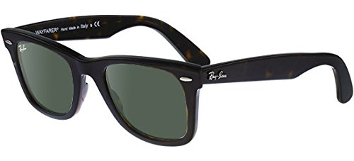 Ray-Ban Rb2140 902 50Mm Wayfarers, Tortoise/Crystal Green, Size One Size (Rb2140 902)