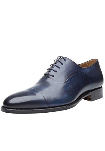 Shoepassion No. 5222 Exclusieve Bedrijfs- Of Casual Schoenen Voor Mannen Met Een Uniek Design Dankzij De Hand Finish. Welted En Handgemaakte. Marine