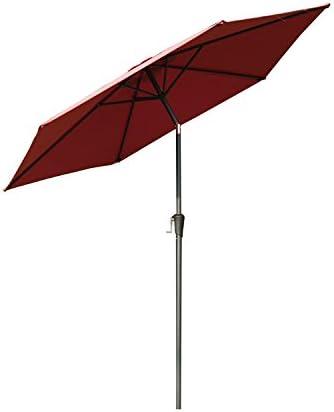 Outsunny Outdoor Aluminum Patio Market Umbrella