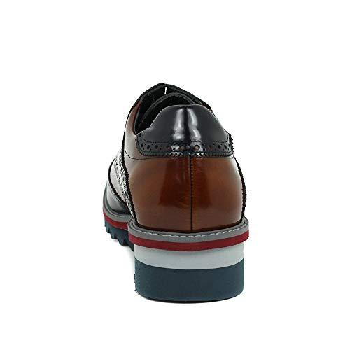 Blucher - Picados - Cordones - Piel - Marino: Amazon.es: Zapatos y complementos
