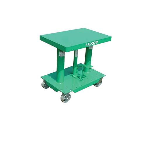 Wesco-Industrial-Products-492204-Steel-Foot-OperatedElectric-Hydraulic-Lift-Table-2000-Pound-Capacity-30-Length-x-20-Width-Tabletop-48-Height