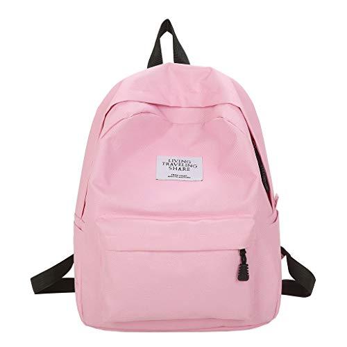 CCFAMILY Women's Bag Backpack Student Bag Travel Bag Large Capacity Middle Student Bag ()