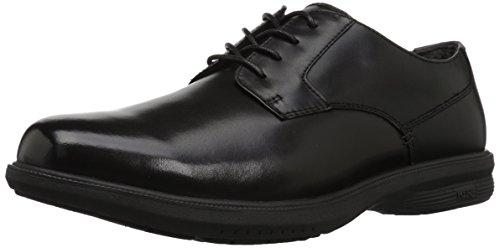 Nunn Bush Men's Messina Plain Toe Oxford with KORE Slip Resistant Comfort Technology, Black, - Resistant Slip Oxford Toe