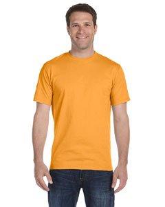 Hanes Mens TAGLESS ComfortSoftCrewneck T-Shirt,Gold,Small