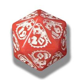 【1着でも送料無料】 1 (One) Single B005Z7DZSW 1 d20 Carved - Q-Workshop: Carved DRAGON d20 Dice/ Die (Red & White) B005Z7DZSW, LaLa forest:e390859b --- cliente.opweb0005.servidorwebfacil.com