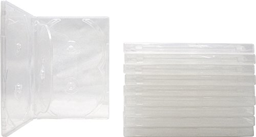 Square Deal Recordings & Supplies (10) 6-Disc Capacity Super Clear 14MM DVD Empty Replacement Cases with Wrap Around Sleeve #DV6R14CL (Dvd Replacement Sleeves)