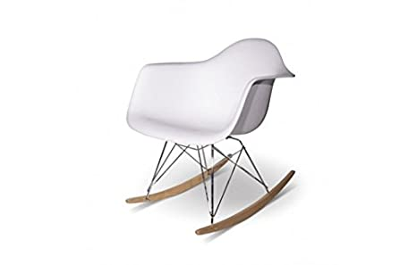 Sedia design rar bianca a dondolo per sedia a dondolo eames