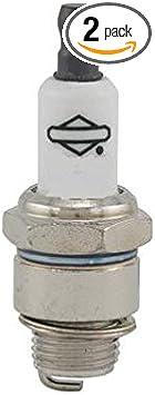 Briggs /& Stratton  Genuine OEM 796112 5095K L-Head Engine Spark Plug 2 Pack