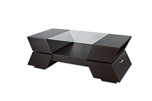 ioHOMES Annika Ultra Modern Glass-Top Coffee Table, (Ultra Modern Glass)