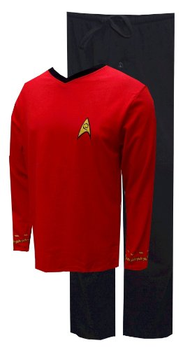 Star Trek Adult Scotty Officer Uniform Red Pajama Set (Star Trek Pajamas For Adults)