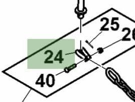 John Deere Original Equipment Chain Link #AN11946