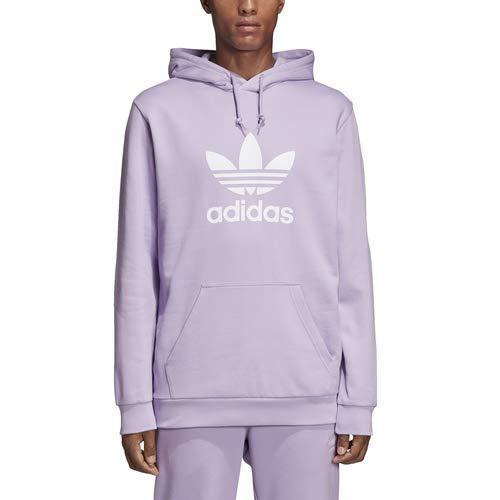 adidas Originals Men's Trefoil Hoodie, Purple Glow, X-Small