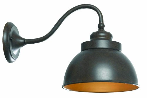 World Imports 9121L-89 Dark Sky Magazine Street Collection Single Light Exterior Long Arm Wall Sconce, Bronze ()
