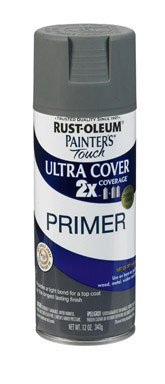 - Rust-Oleum 249088 Painter's Touch Multi Purpose Spray Paint, 12-Ounce, Gray Primer - 6 Pack