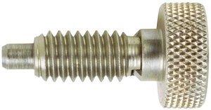 5/16''-18 Dia 1lb-6lb Force S/S Knurled Head Retractable Plunger