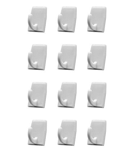 Plastic Adhesive Hooks Set 12