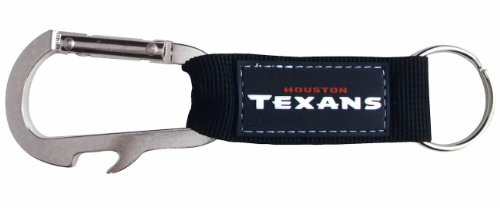Pro Specialties Group NFL Houston Texans Carabineer Keychain, Navy, One Size