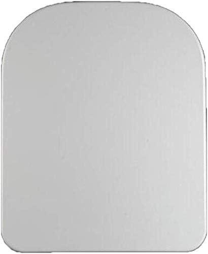 便座ユニバーサルトイレリッドスロークローズホワイトスクエアバスルームと洗面所用トイレシートカバーの取り付けが簡単、ホワイト-42-47 * 34.5CM