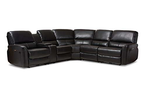 Baxton Studio 424-7896-AMZ Abarrane Sectional Sofa (Corner Facing Sofa Right)