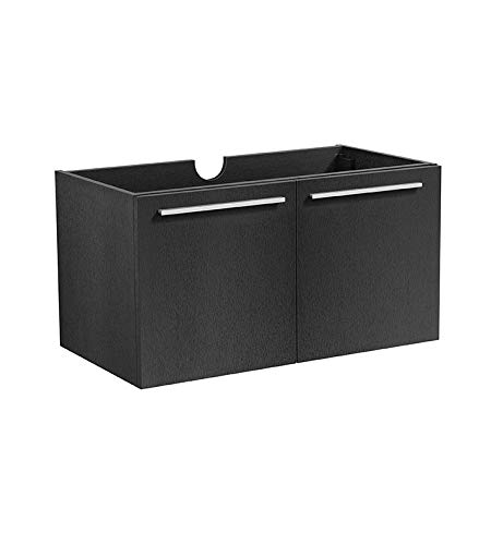 Black Single Door Medicine Cabinet - Fresca FCB8089BW 30