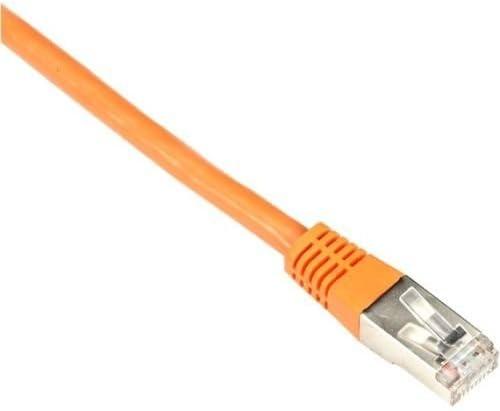 6.0-m 20-ft. Orange Stranded Cable SSTP PIMF PVC Black Box CAT6 250-MHz Shielded