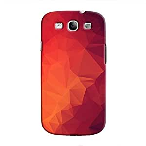Cover It Up - Pink and Red Pixel Triangles Samsung Galaxy S3 Hard Case
