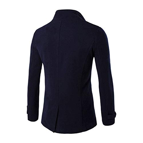 Longues Manteau Revers Et Manches Moderne Casua Vêtements Vestes Parka D'extérieur À Navy 44qgFwE